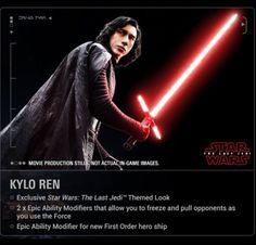 Kylo Ren in The Last Jedi----He looks like a frigging prince