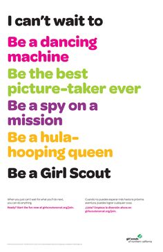 What can't you wait to do? Join Girl Scouts of Northern California! http://www.girlscoutsnorcal.org/join