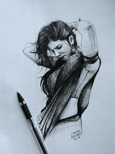 What a lovely work Support us Abstract Pencil Drawings, Realistic Pencil Drawings, Dark Art Drawings, Girly Drawings, Pencil Art Drawings, Girl Drawing Sketches, Art Drawings Sketches Simple, Pen Sketch, Drawing Drawing