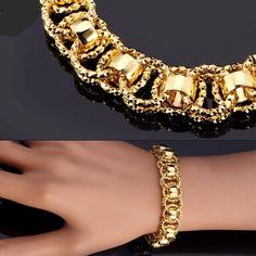Gold Chains For Men Hand Chain Bracelet Trendy Gold/Silver/Black Color Unique Round Bracelets Bangles Women/Men Jewelry Hot Sale Bracelets For Men, Fashion Bracelets, Bangle Bracelets, Fashion Jewelry, Link Bracelets, Ladies Bracelet, Bracelet Men, Handmade Bracelets, Handmade Jewelry