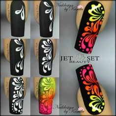 Glam Nails, Fancy Nails, Diy Nails, Cute Nails, Pretty Nails, Stiletto Nails, Simple Nail Art Designs, Cute Nail Designs, Easy Nail Art
