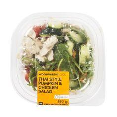 Thai Style Pumpkin & Chicken Salad 2go 280g   Woolworths.co.za Thai Style, Vegetable Salad, Chicken Salad, Salads, Pumpkin, Herbs, Fruit, Vegetables, Food