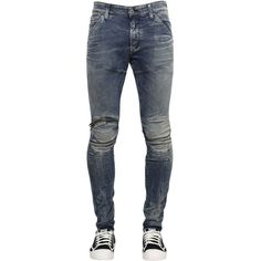 G-star Men 15cm 5620 Elwood Superslim Zip Jeans ($205) ❤ liked on Polyvore featuring men's fashion, men's clothing, men's jeans, blue, mens destroyed jeans, g star mens jeans, mens button fly jeans, mens blue jeans and mens zipper jeans