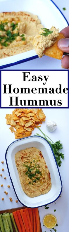 Make your own hummus at home! It's better than anything you'll find in the store!