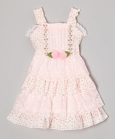 Look at this Bonny Billy Pink Party Ruffle Dress - Girls on #zulily today!