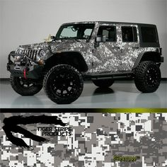 camo wrapped jeep | Tiger Stripe Products Camo Vehicle Wrap Kits