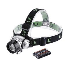 If you have ever set-up or torn-down your campsite in the dark, you know the importance of  hands-free lighting. The LE Battery Powered LED Headlamp/Helmet Light is lightweight with an easily adjustable elastic headband. It has 4 modes including 3 levels of brightness using white light and a flashing red mode. This headlamp is IP44 WEATERPROOF rated; it is protected against splashing water from all angles. It runs on 3 AAA batteries.