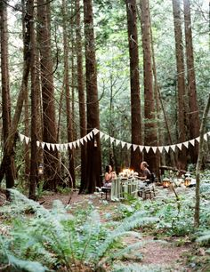 Date Night Idea: Dinner in the Woods  Read more - http://www.stylemepretty.com/living/2013/10/04/date-night-idea-dinner-in-the-woods/