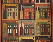 Primitive Folk Art Quilt Wall Hanging and Pillow Pattern:  CONSTELLATION. $7.50, via Etsy.
