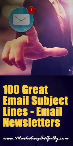 """100 Great Email Subject Lines – Email Newsletters :: Writing great email subject lines for your marketing and email newsletters is a breeze, you just have to study copywriting for years, sales for decades, psychology and everything else that goes along with crafting a message that gets opened and read! Or you can have something like a """"swipe file"""" of great email subject lines you have collected, ones that make you respond and want to click through to open. #email"""