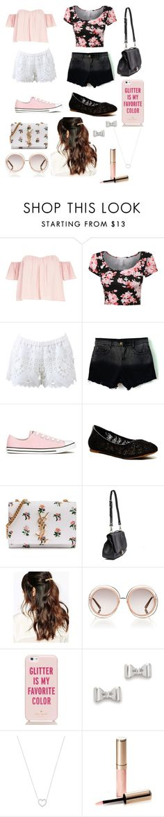 """Spring Outing"" by madisonpearl on Polyvore featuring River Island, Alexis, Converse, Lucky Brand, Yves Saint Laurent, Proenza Schouler, Suzywan DELUXE, Chloé, Kate Spade and Marc by Marc Jacobs"