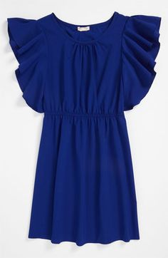 Sally Miller Flutter Sleeve Dress (Big Girls) | Nordstrom