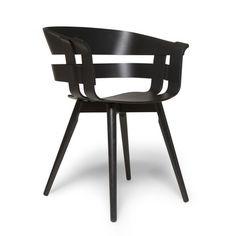 Der Wick Chair Wood in schwarz von Design House Stockholm