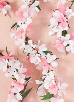 Paper Flower Garland by A Petal Unfolds