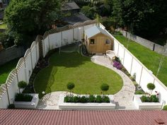 triangular garden designs