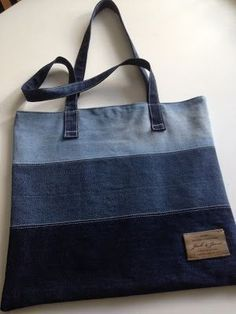 74 Awesome DIY ideas to recycle old jeans, DIY and Crafts, 74 AWESOME ideas to recycle jeans Sacs Tote Bags, Denim Tote Bags, Diy Jeans, Diy Bags Jeans, Diy With Jeans, Diy Denim Purse, Denim Bags From Jeans, Sewing Jeans, Diy Purse