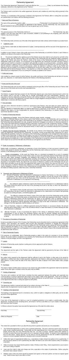 Partnership Agreement 2 | Real Estate Investing | Pinterest