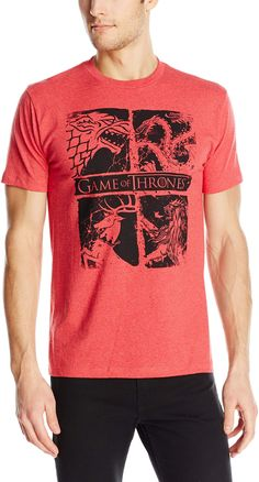 79cb583b3 HBO S Game of Thrones Men s Game of Thrones Four Houses T-Shirt Game Of  Thrones