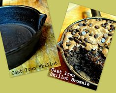 How to season cast iron...skillet cookie recipe
