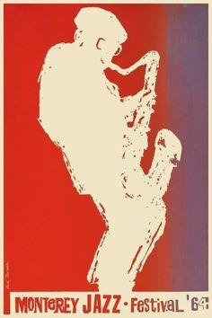 Monterey Jazz Festival POSTER 1964 Miles Davis Dizzy Gillespie Thelonius Monk