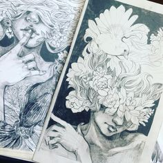 My small obsession this week is Malisa Suchanya's series of graphite portraits.