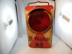 Eisenbahn Lampe Bf.Wismar Nr.6 selten. Verkauft!