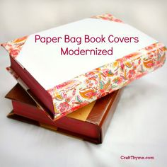 DIY book covers made from paper bags with a modern twist. Durable and great for kids and back to school! #backtoschool #books