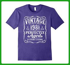 Mens Vintage Legends Made in 1981 T-Shirt 36th Birthday Gift Small Purple - Birthday shirts (*Amazon Partner-Link)