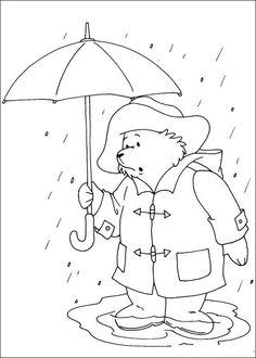 coloring page Paddington Bear Kids-n-Fun