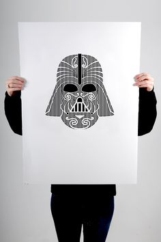 """""""I am… your father"""" Black screen print on 100% cotton 300gsm Pescia paper Paper size 56x76cm Edition of 20 and 1 artist proof"""