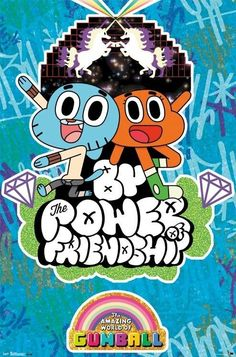 The Amazing World of Gumball Friendship Animated TV Poster Cartoon Network Shows, 12 Year Old Boy, Cartoon Posters, Cartoons, World Of Gumball, Weird Creatures, New Poster, Darwin, Adventure Time