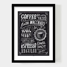 Paperfuel A4 Poster Coffee for Every Taste
