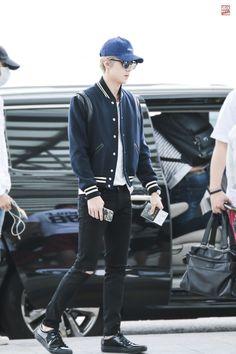 150911: EXO Oh Sehun; Incheon Airport to Chongqing Airport #exok #fashion #style #kfashion #kstyle