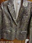 Chico's Metallic Jacket Blazer Suit 0 Extra Small XS 4 6 Lined CHICOS Ladies