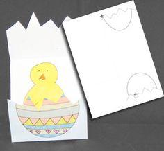 Kort: Kläck en hyckling Hare, Printables, Print Templates, Bunnies