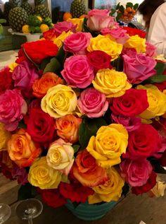 Red, Orange, Yellow, & Pink Roses
