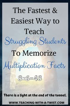 Wondering how to teach struggling students to memorize multiplication facts? This simple strategy is a multiplication miracle! Learning Multiplication Facts, Math Facts, Teaching Math, Maths, Multiplication Tables, Math For Kids, Fun Math, Math Activities, Learning Websites For Kids
