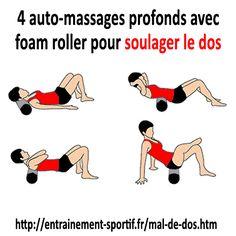 auto-massages-profonds avec foam roller pour soulager le mal de dos