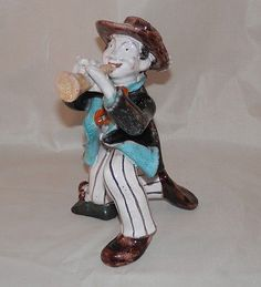 Rare Art Deco Skier Ski Girl Ceramic Figurine Lamp