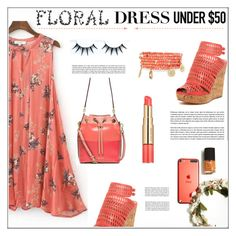 """""""Dress Under $50 * Floral"""" by pat912 ❤ liked on Polyvore featuring Charles by Charles David, Estée Lauder, MICHAEL Michael Kors, Emily & Ashley, polyvoreeditorial and Dressunder50"""
