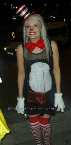 Super-Easy Homemade Women's Cat in the Hat Costume!... This website is the Pinterest of costumes
