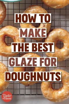 Here, you'll learn how to make donut glaze right at home for a sweet breakfast treat any day of the week. Homemade Donut Glaze, Donut Glaze Recipes, Homemade Donuts, Glaze Icing Recipe For Donuts, Homemade Breads, Potato Donuts Recipe, Biscuit Donuts, Baked Doughnuts, Biscuits