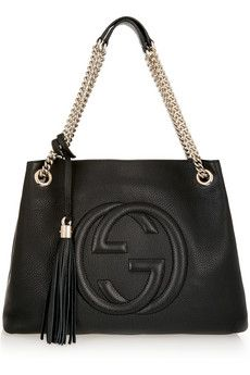 0a6deee2103 Gucci Soho medium textured-leather shoulder bag