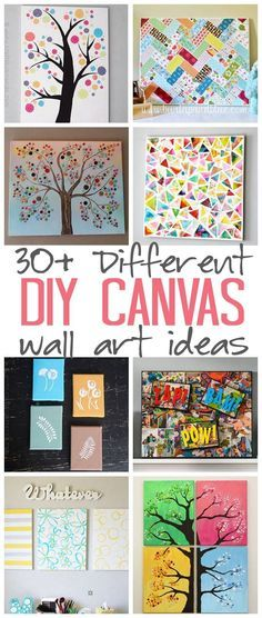 DIY Canvas Wall Art Ideas: 30+ canvas tutorials for adults - great ideas for your home, office, nursery and craft room!