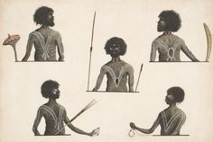 C Five half length portraits of Aborigines by the Port Jackson painter , courtesy of the National Library of Aboriginal Tattoo, Aboriginal Art, Aboriginal Culture, Aboriginal People, History For Kids, Art History, Australian Aboriginal History, Australian Aboriginals, Botany Bay