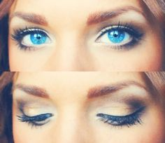 If you have blue eyes, play them up! They are a great feature and, with a little help, they can be your best feature.