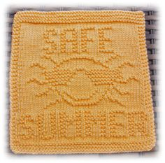 Safe Summer Dishcloth                                                                                                                                                     More