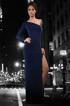 The Split Seconds Dress in Navy by Savee Couture at CoutureCandy.com