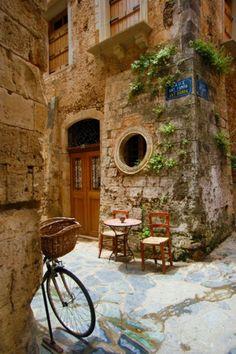 Ancient Street Corners, Crete Greece