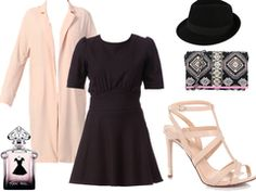 Black dress with pink by estellemg
